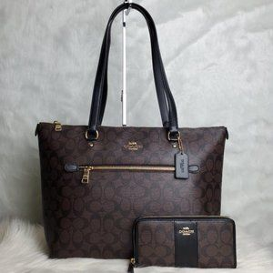 COPY - COACH GALLERY TOTE AND WALLET COMBO